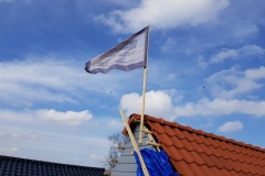 vlag in top wolvega dakopbouw